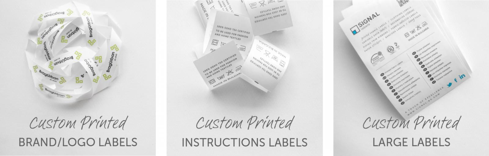 Custom Printed Fabric Labels for Clothing