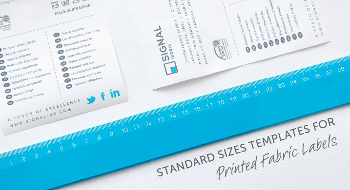 Standard Labels Sizes Templates