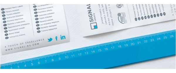 Signal Bg The Most Commonly Used Sizes For Fabric Labels Clothes And Home Textiles